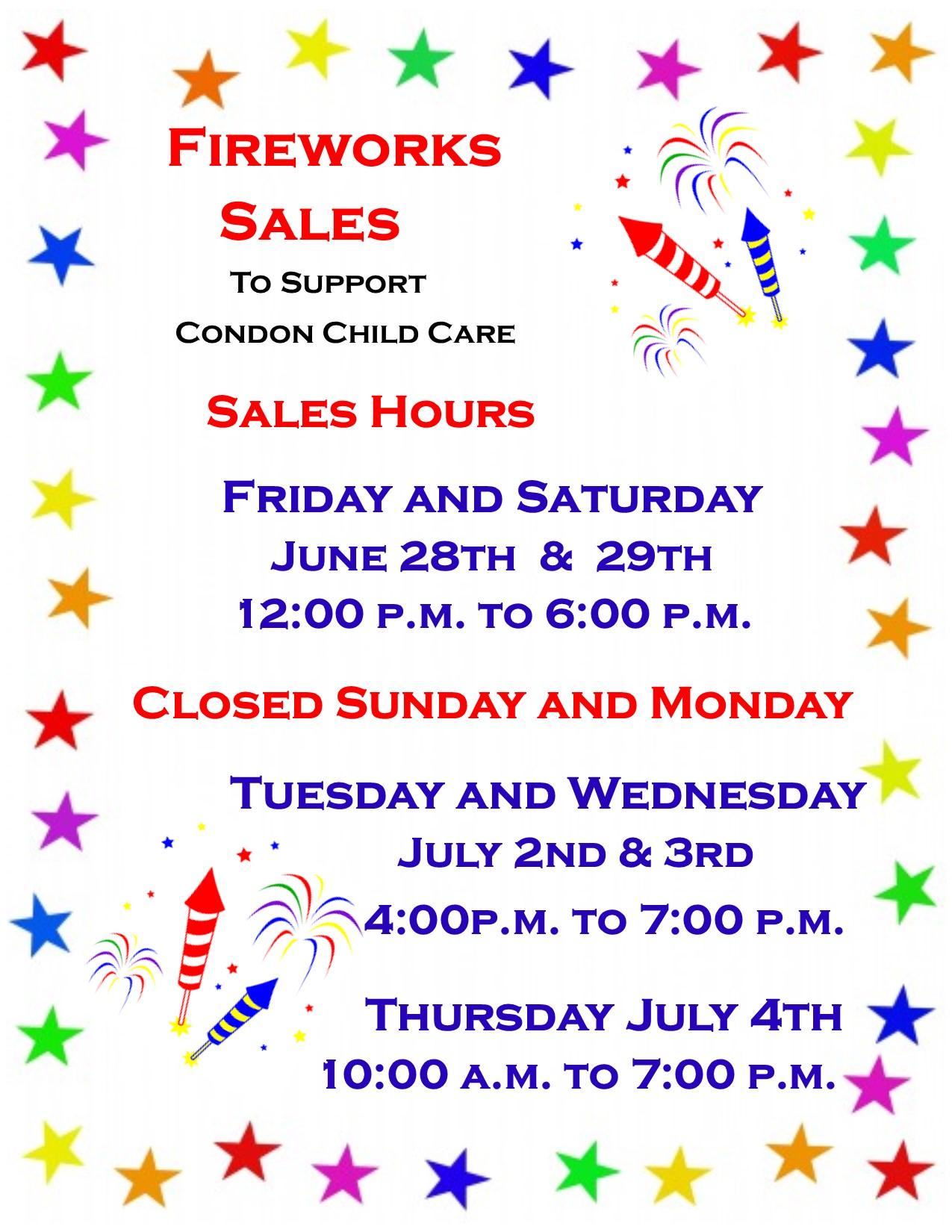 Fireworks Sales Poster